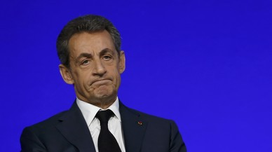 File photo of Nicolas Sarkozy, head of France's Les Republicains political party and former French President, speaks on the second day of his party's national council in Paris