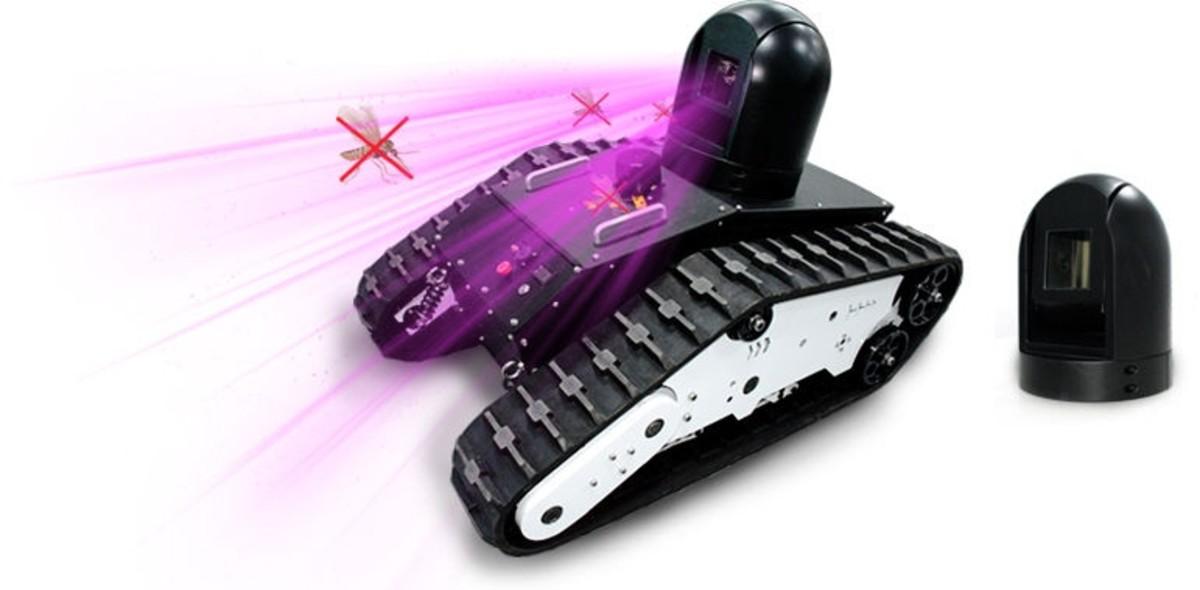 Prototipo del tanque para matar mosquitos de la empresa LeiShen Intelligent.