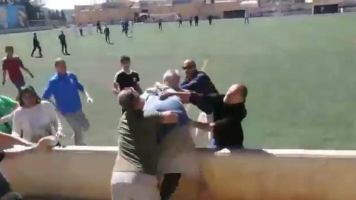 Batalla campal en un partido de infantiles en Mallorca