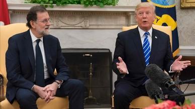 Trump defensa la unitat d'Espanya davant Rajoy i altres temes del dia, en un minut
