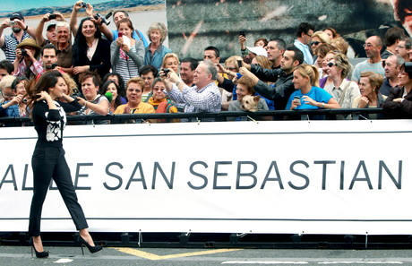 Penlope Cruz, llega, hoy con paso firme al Festival de San Sebastin.