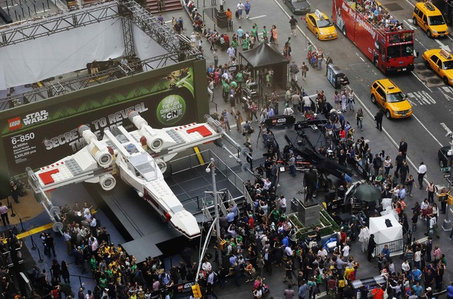 Vista aèria de la maqueta gegant de Lego d