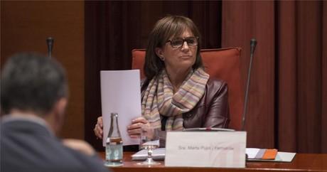 Marta Pujol Ferrusola, durante su comparecencia ante la 'comisi�n Pujol' del Parlament.