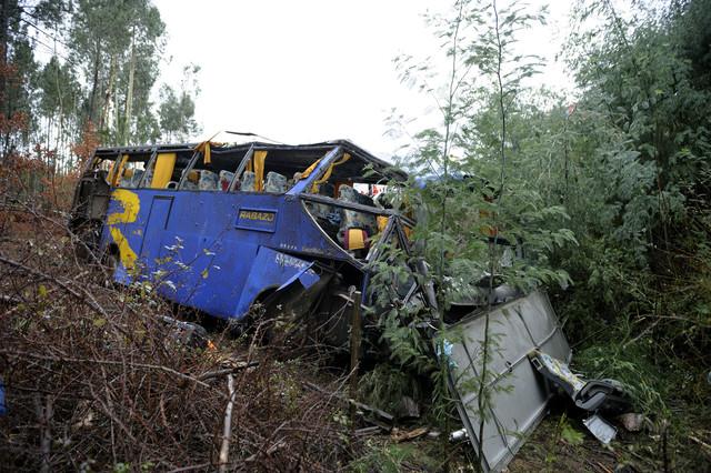 Una decena de muertos y m�s de 30 heridos en un accidente de autob�s en Portugal