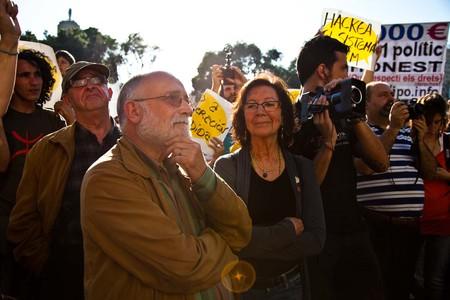 Miles de manifestantes reclaman en Barcelona y Madrid un cambio de sistema político y social