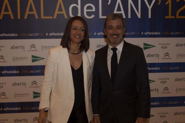 La exdiputada del PSC Laia Bonet y el portavoz adjunto socialista en el Parlament, Jaume Collboni.