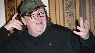 Michael Moore, durante una rueda de prensa, el pasado 9 de junio en Londres.