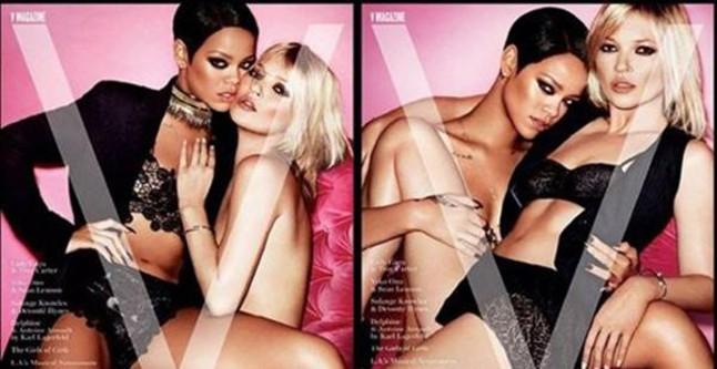 Rihanna y Kate Moss posan juntas y sin ropa
