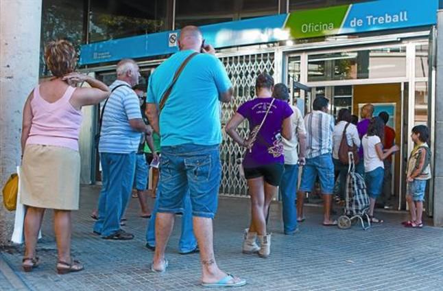 Alarma por el aumento de la cifra de parados sin ning n for Oficina de treball