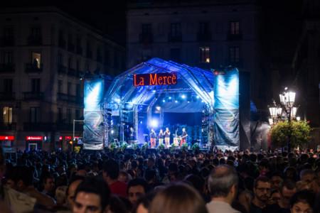 Una de les actuacions de l'última edició de la Mercè a Barcelona.