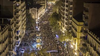 Multitudinària manifestació a València per una millora del finançament