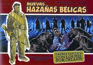 DE LA POSGUERRA AL SIGLO XXI 3 Cómics originales con soldados americanos en la portada, que en las Nuevas Hazañas bélicas se convierten en un fascista y un miliciano.