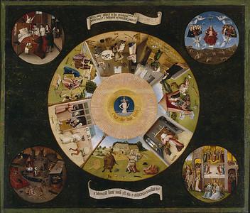 La 'Mesa de los pecados capitales, de El Bosco.