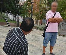 Uno de los ciudadanos agredidos en Lleida.