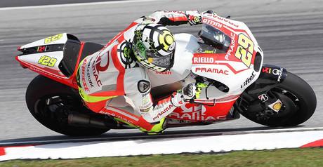 Andrea Iannone, en Sepang.