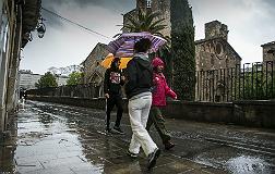 Lluvias en el Raval de Barcelona, en noviembre del a�o pasado.