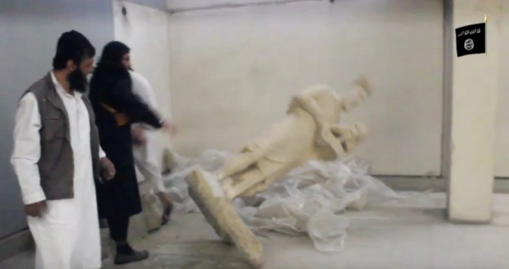 El Estado Islámico destruye estatuas de Níniveh en el museo de Mosul