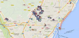 Captura del mapa donde geolocalizar a los pokémons