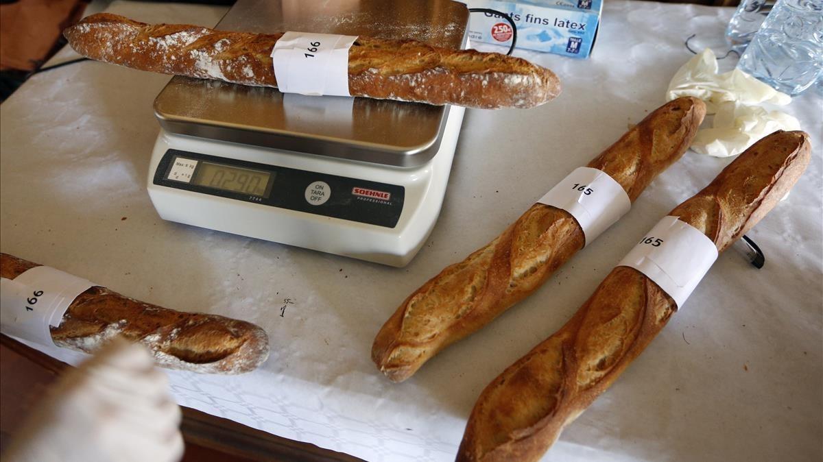 Baguettes en un concurso, en París