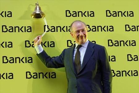 Campana 8 Rato, en la salida a bolsa de Bankia, en el 2012.