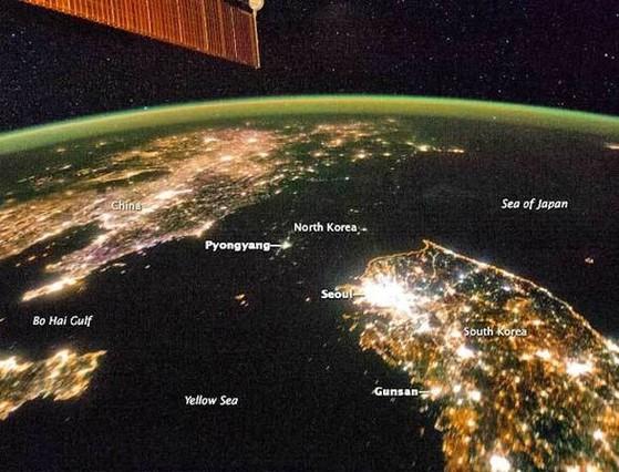 Una foto de la NASA que muestra la penuria energ�tica de Corea del Norte indigna a Pyongyang