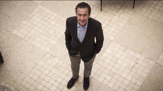 Jorge Valdano, en la presentaci�n de su libro en Barcelona.