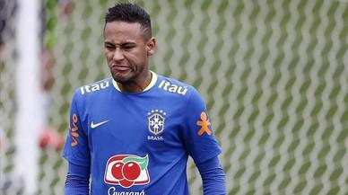 Neymar, en la concentraci�n de la selecci�n de Brasil en Teres�polis.