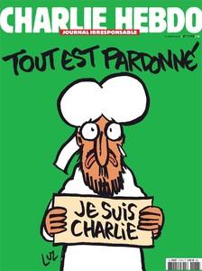 """Mahoma proclama en la portada de 'Charlie Hebdo': """"Je suis Charlie"""""""