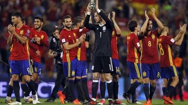 Espanya es passeja contra Albània i aconsegueix el bitllet a Rússia