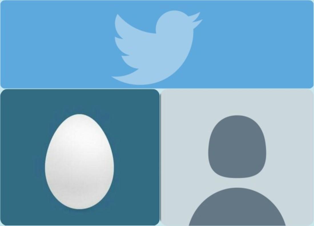 A la izquierda la antigua imagen predeterminada del huevo y a la derecha la nueva imagen de la silueta.