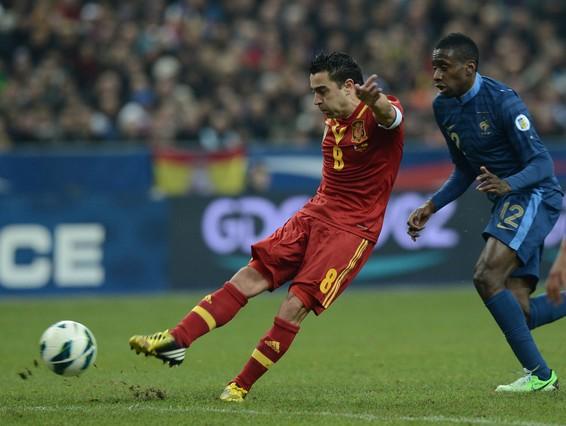 Xavi vuelve lesionado del Francia-Espa�a