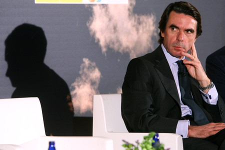 Aznar, en el primer Foro Global de Sostenibilidad, en Madrid, el diciembre pasado.
