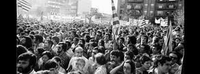 La manifestación de la Diada en Sant Boi, en 1976.