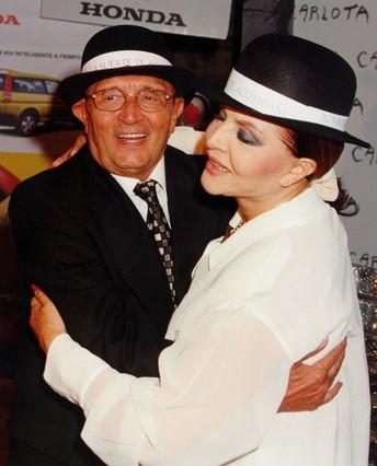 Tony Leblanc y Sara Montiel, en 1999.