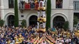 Los Castellers de Badalona descargan su primer gama alta de la temporada y Minyons su primer 'pilar' de 6