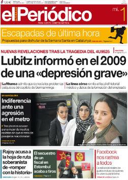 La portada de <br>EL PERI�DICO