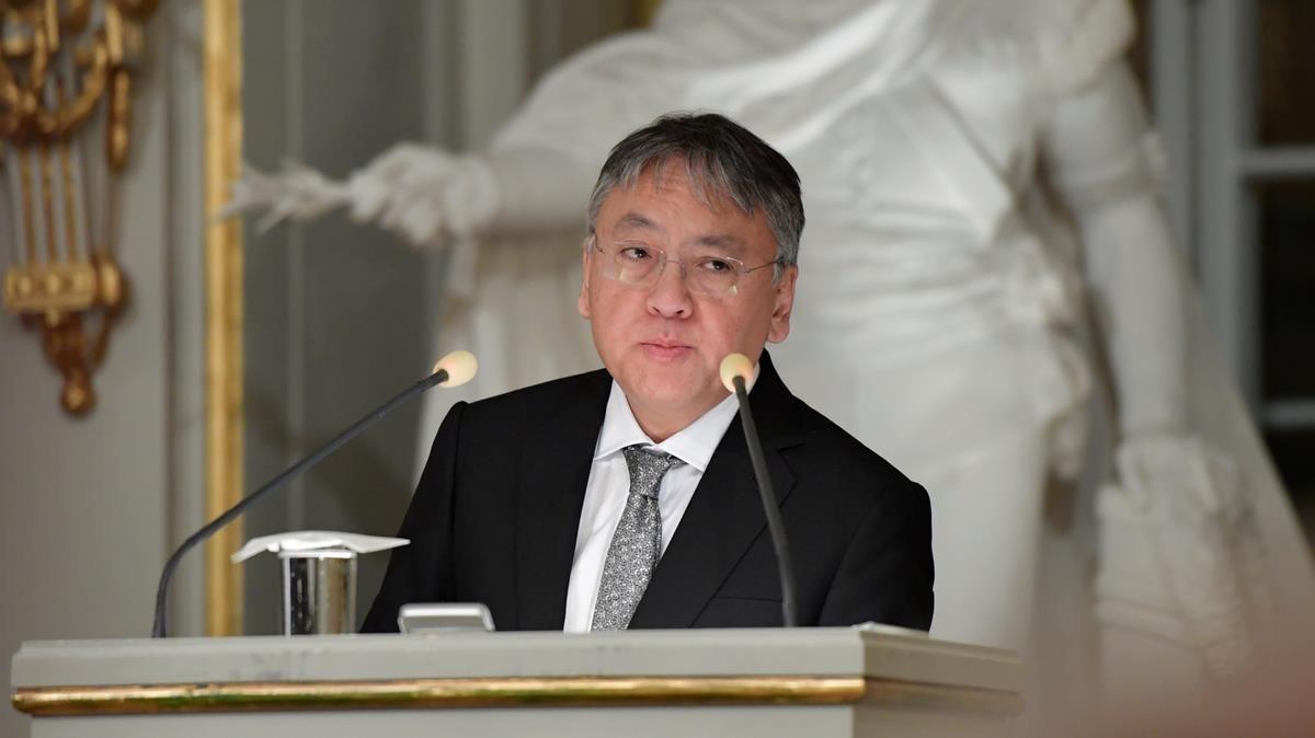 Kazuo Ishiguro, el 7 de diciembre del 2017 en la Academia Sueca.
