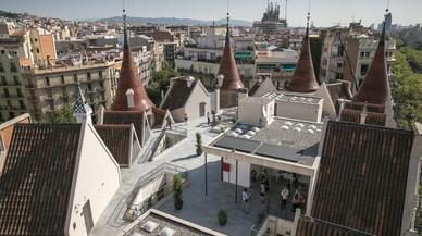 La azotea de la Casa de les Punxes, desde una de sus torres.