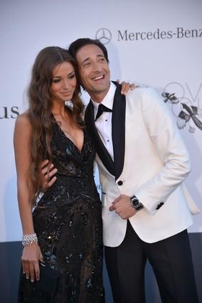Adrien Brody y Lara Lieto.