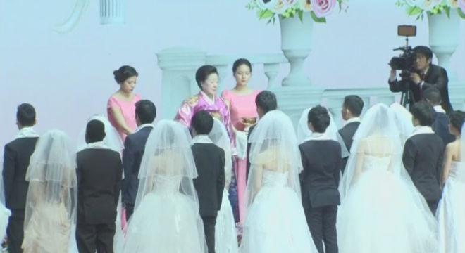 Tres mil parejas se han dado el s� quiero�en la ciudad de Gapyeong, en Corea del Sur.