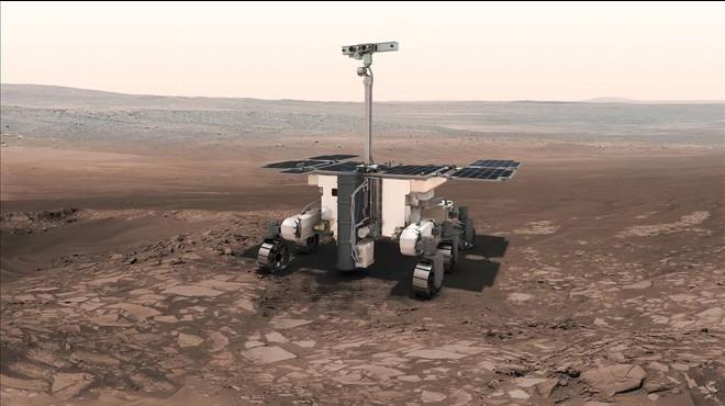 Representaci�n gr�fica del robot de exploraci�n ExoMars 2018, ahora ExoMars 2020, un proyecto conjunto de Europa y Rusia.