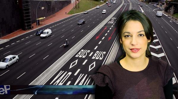 Las nuevas normativas del carril bus-VAO, en L'informatiu