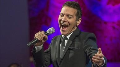 El cantante norteamericano Michael Feinstein durantesu actuación en el Palau de la Música.