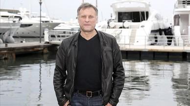 Michael Nyqvist, posando durante un acto promocional en Cannes.