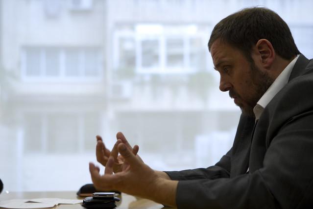 """Oriol Junqueras: """"Esquerra no se dejar� intimidar ni presionar"""""""