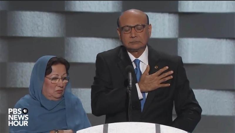 """El padre de un soldado musulm�n estadounidense muerto en Irak a Trump: """"Usted no ha sacrificado nada""""."""