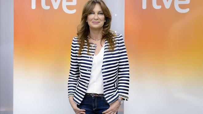 Patricia Gazta�aga, presentadora del nuevo programa de TVE 'Cuesti�n de tiempo'.