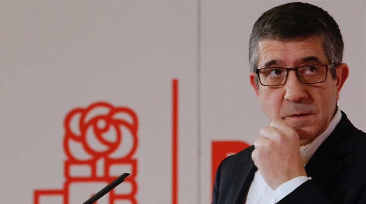 Patxi López, durante su presentación como candidato a liderar el PSOE, el pasado domingo en Madrid.