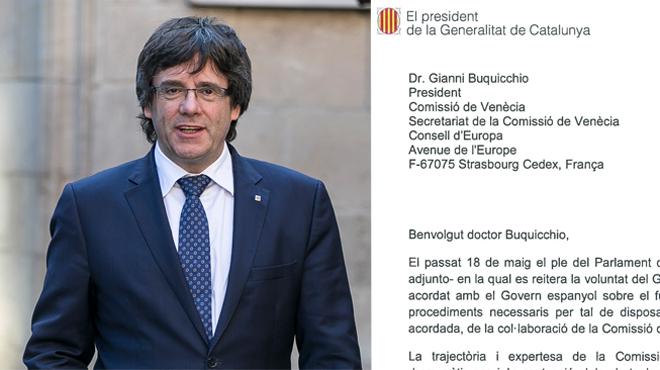 Puigdemont envia una carta a la Comissió de Venècia per buscar l'aval al referèndum