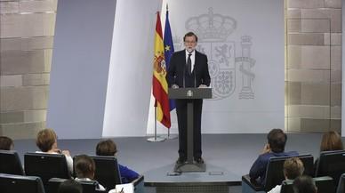 """Rajoy dona per mort el referèndum de l'1-O i crida a evitar """"mals pitjors"""""""